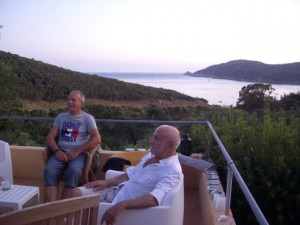 This couple, friends of Fabrice and Regis, also own a cottage on the island. The gentleman in the T-shirt is the one who poured me the last of the Chablis.